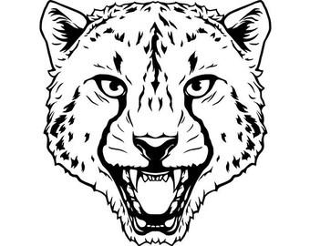 Cheetah #2 Leopard Jaguar Wild Cat Spots Wildlife Wild Animal Zoo Mascot Logo .SVG .EPS .PNG Digital Clipart Vector Cricut Cut Cutting File