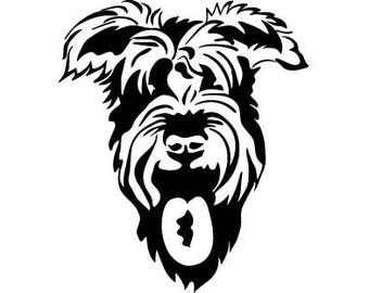Schnauzer #3 Dog Breed Animal Pet Purebred Pedigree Canine Hound Giant Mini .SVG .EPS .PNG Clipart Vector Cricut Cut Cutting Printable File
