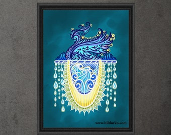 Keeper of the light, Digital Print, Bohemian, INSTANT DOWNLOAD, Digital Download, Gallah Wall Art Digital