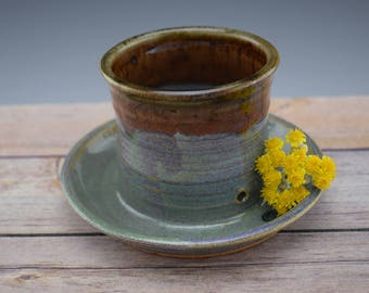 Earthy Handmade Ceramic Planter, Handmade Flower Pot, Small Planter, Succulent Planter, Wheelthrown