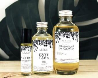 Travel Kit: MATURING SKIN - small cleanser, toner, serum moisturizer, small skincare kit, travel sized cleanser, travel toner, aging skin