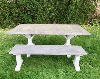 Distressed table | Etsy