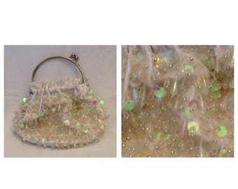 On Sale Beautiful Vintage Handbag with Sequins and Beading