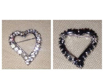 Anniversary Sale Lovely Rhinestone Vintage Heart Shaped Pin