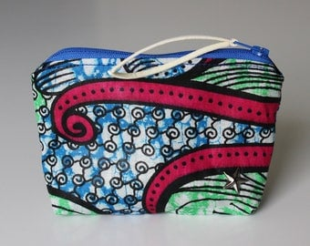 Wallet / card tissue holder African Wax