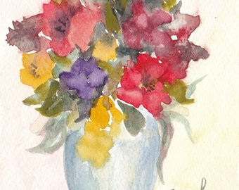 bouquet 31 - original watercolor painting