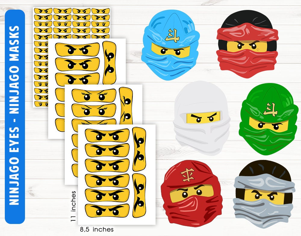 Playful image for ninjago mask printable