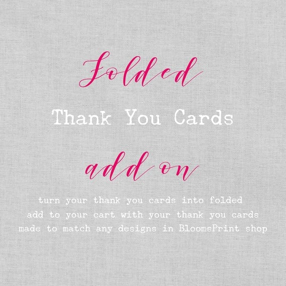 Turn your thank you cards into folded cards - add on, Folded thank you card, Folded wedding thank you card with photo, A6 (folded)