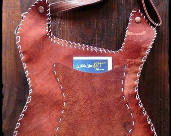Leather guitar bag