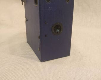 Vintage Ensign E29 Box Camera in Blue by The Houghton Butcher Company London.