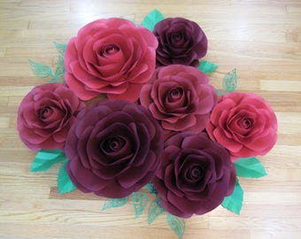 Paper Flower Backdrop-****** CUSTOMIZE YOUR ORDER*******