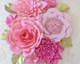 Large Paper Flower Backdrop/ Nursery Decor *****Color Customize your Order*****