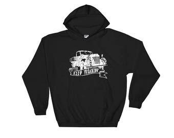 Keep Truckin', Truck Hooded Sweatshirt, Hoodie