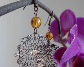 "Bohemian dangle earrings ""spirit"""