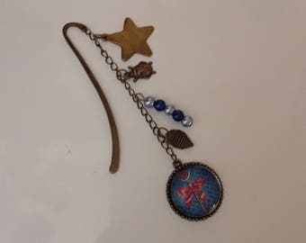 Bookmark bronze Pearl Alice in Wonderland charms countries
