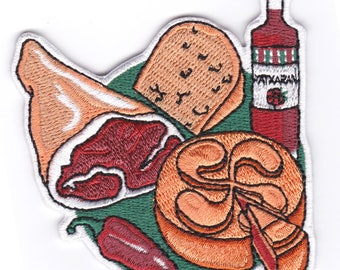 Euskadi iron on embroidered Patch PAYS BASQUE - original design by Corn & Sonor - terroir - french food - basque culture - France
