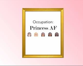 Princess Wall Art princess wall decor | etsy