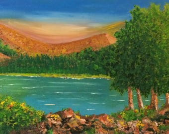 Landscaping oil painting ,natural landscaping,original landscaping,decoration art,plein air painting.
