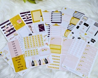 VOL 1 | WEEKLY KIT | Full Box Stickers | Planner Kit |  Planner Stickers | Functional Stickers | Decorative Stickers
