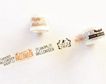 Happy Halloween Washi Tape - Planner, Journal, Craft, Scrapbooking, Decoration