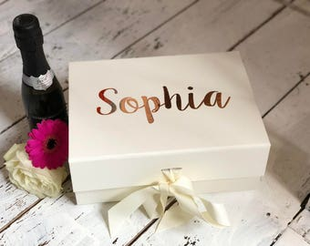 Luxury A5 size gift box with ribbon, Bridesmaid box, Brides box, Gift box, Birthday box, Grooms box, Keepsake box, Gift Box, Memory Box