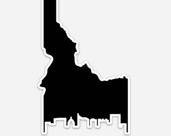 Boise Cityscape - Idaho - Sticker/Decal