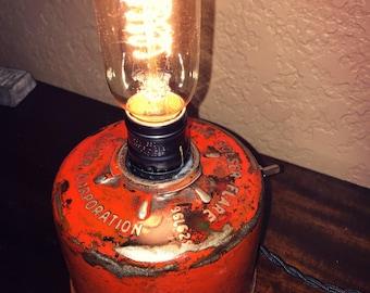 Repurposed Vintage 1930s Bolser Highway Flare Lamp