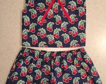Cheery Cherries Toddler Shorts Set