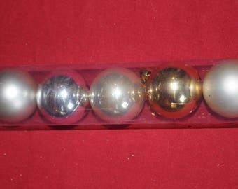 "Christmas: Set of 16 balls ""diamonds"" gold"