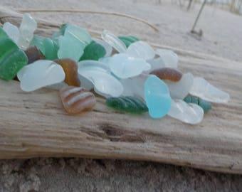 41 pieces Perfectly smoothed striped Tiny Genuine Sea Glass Bulk-Bottle Necks-Genuine Sea Glass Bottle Lips- Bottle Rims-Bottle necks#G26#