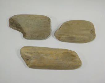 3 Small Driftwood 6.1-8.3''/15-21 cm Thick Driftwood Pieces Craft Wood-Natural Driftwood signs-Small Driftwood Supply-Driftwood  Card #18A