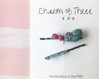 Beaded bobby pins, bobby pins, toddler accessories, teen accessories, hair pins, hair clips, hair barrette, hair accessory
