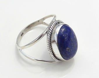 Lapis Lazuli ring,handmade ring, 92.5% sterling silver ring, silver lapis ring,gemstone ring,sterling silver ring, handmade ring, lapis