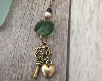 Unique Romantic Necklace With Heart and Key