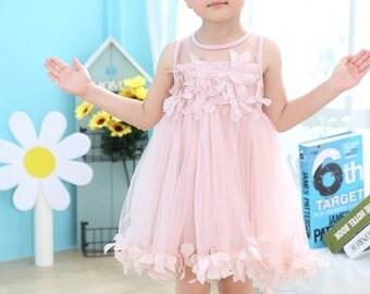 Pink rose petal dress