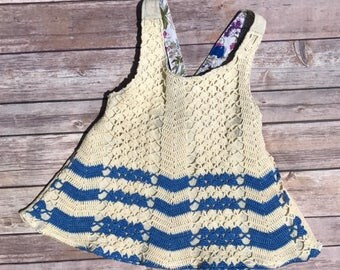 Upcycled Vintage Apron Girls Shirt Size 4T