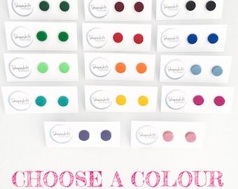 Choose a Colour - Polymer Clay Stud Earrings