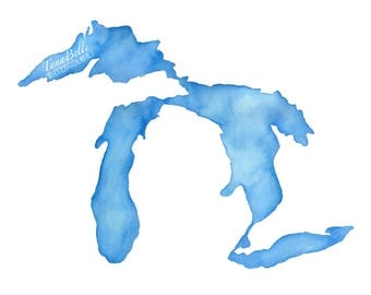 Michigan - Limited Edition Giclée Print