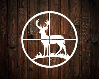 Deer in Scope Decal