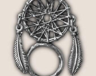 DREAM CATCHER SUNGLASS holder pin biker pin guardian bell gremlin