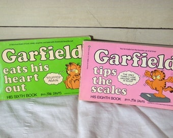 Garfield's 6th and 8th book, by Jim Davis 1983 and 1984 paperbacks
