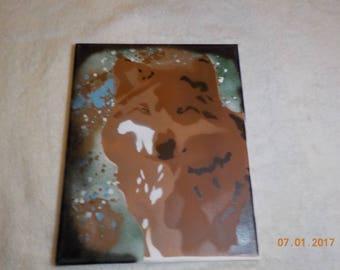 Wolf Spray Paint Art