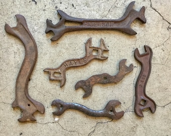 Farm Tools Collection, All Six Wrenches, Ca: 1900.