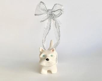 Handmade Westie Dog Christmas Ornament