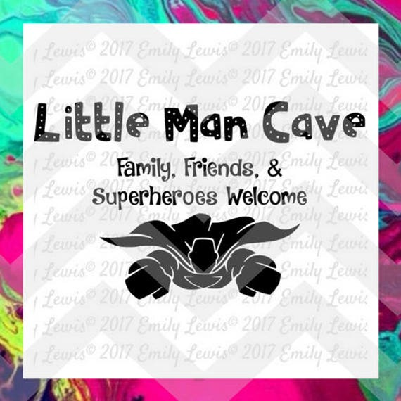 Little Man Cave Svg Family Svgs Friend Svgs Superheroes