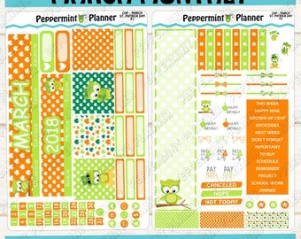 St Patrick Day Monthly Kit --- March Monthly --- Will fit in the Classic Happy Planner --- CHP MARCH 01