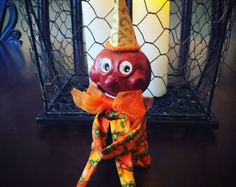 Vintage Inspired Pumpkin Doll