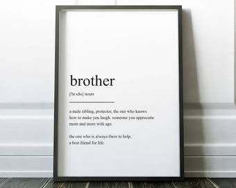 Brother definition etsy for Minimalist design definition