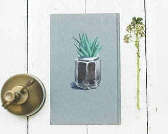 Succulent in a jar - Original Gouache Painting