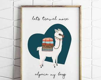 80% OFF alpaca print, llama print, alpaca my bags decor, alpaca printable, alpaca wall decor, digital download